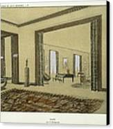 Salon, From Repertoire Of Modern Taste Canvas Print by Jacques-Emile Ruhlmann