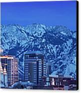 Salt Lake City Skyline Canvas Print by Brian Jannsen