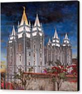 Salt Lake Temple Canvas Print by Jeff Brimley