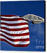 Salute The Flag Canvas Print by Tim Wilson