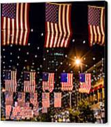 Salute To Old Glory Canvas Print by Teri Virbickis