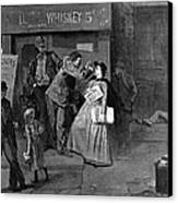 Salvation Army In Slums Canvas Print by Granger