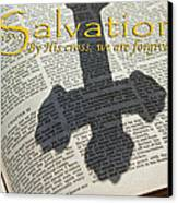 Salvation By His Cross Isaiah Canvas Print by Robyn Stacey