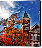 Samford Hall In The Fall Canvas Print by Victoria Lawrence