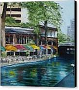 San Antonio Riverwalk Cafe Canvas Print by Stefon Marc Brown