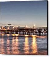 San Clemente Pier At Night Canvas Print by Richard Cheski