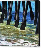 San Clemente Pier Canvas Print by Mariola Bitner
