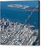 San Francisco Bay Bridge Aerial Photograph Canvas Print