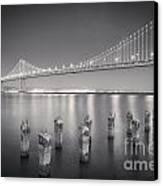 San Francisco Bay Bridge Canvas Print by Colin and Linda McKie