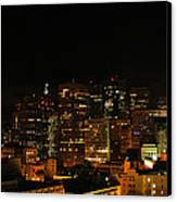 San Francisco By Night Canvas Print by Cedric Darrigrand
