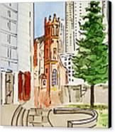 San Francisco - California Sketchbook Project Canvas Print by Irina Sztukowski
