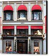 San Francisco Cartier Storefront - 5d20567 Canvas Print by Wingsdomain Art and Photography