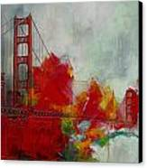 San Francisco City Collage Canvas Print