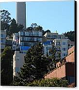 San Francisco Coit Tower At Levis Plaza 5d26192 Canvas Print