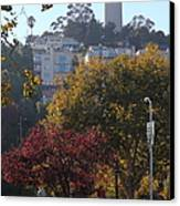 San Francisco Coit Tower At Levis Plaza 5d26216 Canvas Print by Wingsdomain Art and Photography