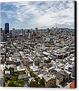 San Francisco Daytime Panoramic Canvas Print