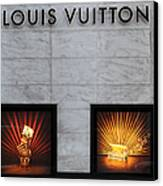 San Francisco Louis Vuitton Storefront - 5d20546-2 Canvas Print by Wingsdomain Art and Photography