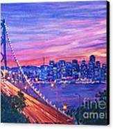 San Francisco Nights Canvas Print by David Lloyd Glover