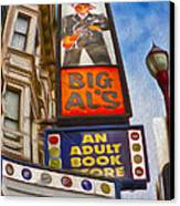 San Francisco - North Beach - 04 Canvas Print by Gregory Dyer