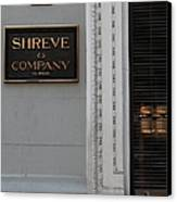San Francisco Shreve Storefront - 5d20579 Canvas Print by Wingsdomain Art and Photography