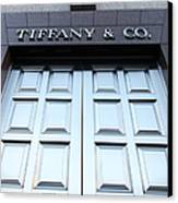 San Francisco Tiffany And Company Store Doors - 5d20562 Canvas Print by Wingsdomain Art and Photography