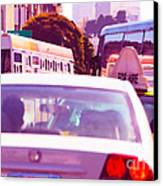 San Francisco Traffic Jam Canvas Print by Artist and Photographer Laura Wrede