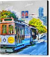 San Francisco Trams 4 Canvas Print by Yury Malkov