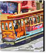 San Francisco Trams 5 Canvas Print by Yury Malkov