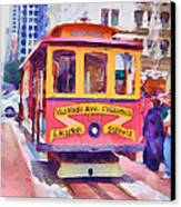 San Francisco Trams 7 Canvas Print