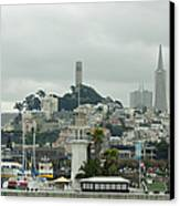 San Francisco View From Fishermans Wharf Canvas Print