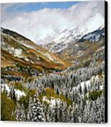 San Juan Mountains After Recent Snowstorm Canvas Print by Jetson Nguyen