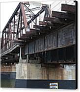 San Lorenzo River Train Bridge At Santa Cruz Beach Boardwalk California 5d23609 Canvas Print
