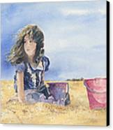 Sand Castle Dreams Canvas Print by Monte Toon