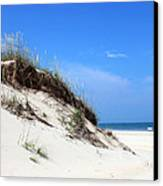 Sand Dunes Of Corolla Outer Banks Obx Canvas Print by Design Turnpike