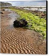 Sand Patterns On Robin Hoods Bay Beach Canvas Print