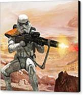 Sand Trooper - Star Wars The Card Game Canvas Print by Ryan Barger