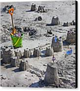 Sandcastle Squatters Canvas Print by Betsy Knapp