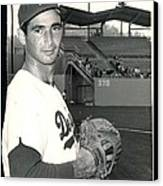 Sandy Koufax Photo Portrait Canvas Print by Gianfranco Weiss