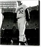 Sandy Koufax Vintage Baseball Poster Canvas Print by Gianfranco Weiss