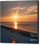 Sandy Neck Beach Sunset Canvas Print
