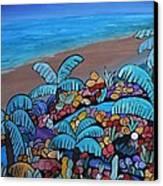 Santa Barbara Beach Canvas Print by Barbara St Jean