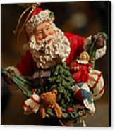 Santa Claus - Antique Ornament - 04 Canvas Print