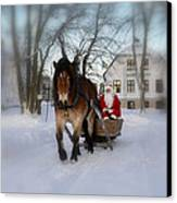Santa Claus Canvas Print by Conny Sjostrom