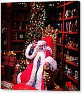 Santa Claus Greeting Canvas Print by Scott Allison