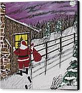 Santa Claus Is Watching Canvas Print