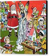 Santa Claus Toy Factory Canvas Print by Jesus Blasco