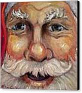 Santa Closeup Canvas Print by Sheila Kinsey