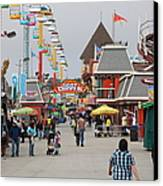 Santa Cruz Beach Boardwalk California 5d23625 Canvas Print by Wingsdomain Art and Photography