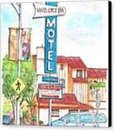Santa Cruz Inn Motel In Riverside - California Canvas Print by Carlos G Groppa