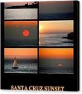 Santa Cruz Sunset  Canvas Print by AJ  Schibig